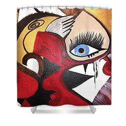 Motley Eye 2 Shower Curtain