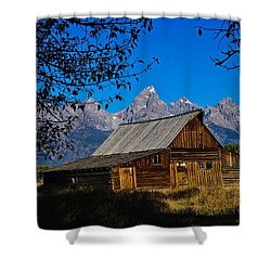 Shower Curtain featuring the photograph Moulton Barn by Norman Hall