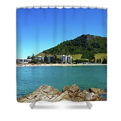 Mount Maunganui Beach 10 - Tauranga New Zealand Shower Curtain