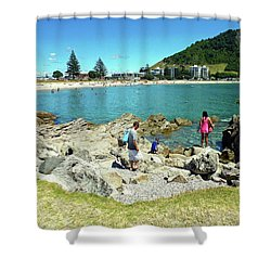Mount Maunganui Beach 12 - Tauranga New Zealand Shower Curtain