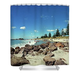 Mount Maunganui Beach 2 - Tauranga New Zealand Shower Curtain
