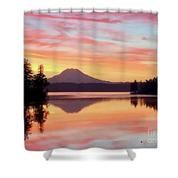 Mount Rainier Dawn Shower Curtain