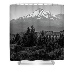 Shower Curtain featuring the photograph Mount Shasta And Shastina by Frank Wilson
