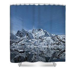 Mountain Reflection Shower Curtain by Frank Olsen