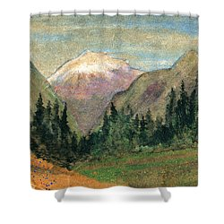 Mountain View Shower Curtain by R Kyllo