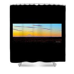 Mt. Adams Sunset Shower Curtain