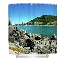 Mt Maunganui Beach 11 - Tauranga New Zealand Shower Curtain
