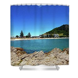 Mt Maunganui Beach 9 - Tauranga New Zealand Shower Curtain