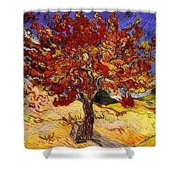 Shower Curtain featuring the painting Mulberry Tree by Van Gogh