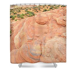 Shower Curtain featuring the photograph Multicolored Wave In Valley Of Fire by Ray Mathis