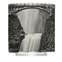 Multnomah Falls Upclose Shower Curtain