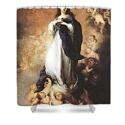 Murillo Immaculate Conception  Shower Curtain by Bartolome Esteban Murillo