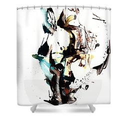 My Form Of Jazz Series 10064.102909 Shower Curtain by Kris Haas