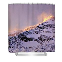 mystery mountains in North of Norway Shower Curtain
