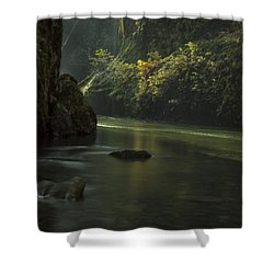 Mystical Canyon Signed Shower Curtain