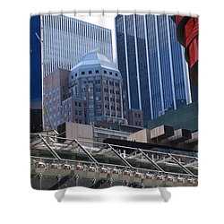 N Y C Architecture Shower Curtain by Rob Hans