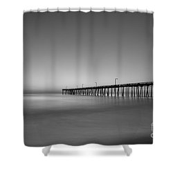 Nags Head Fishing Pier Sunrise Shower Curtain