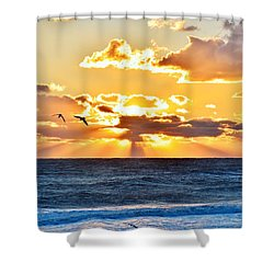 Nags Head Sunrise  Shower Curtain