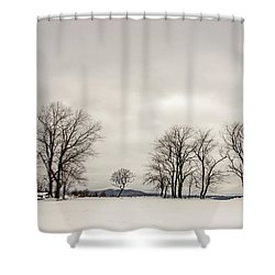 Naked Treeline Shower Curtain