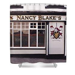 Nancy Blake's Irish Pub Shower Curtain