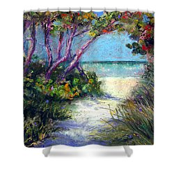 Naples On Third Shower Curtain by Laurie Paci