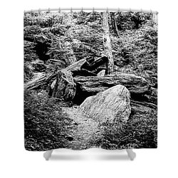 Native American Caves  Shower Curtain