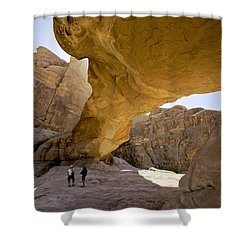 Natural Arch In Wadi Rum Shower Curtain by Michele Burgess