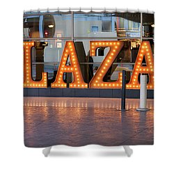 Neon Plaza Shower Curtain