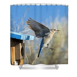 Leaving The House Shower Curtain by Mike Dawson
