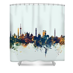 New Delhi India Skyline Shower Curtain