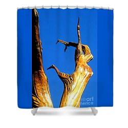 New Orleans Bird Tree Sculpture In Louisiana Shower Curtain