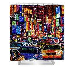 New York City Shower Curtain by Debra Hurd