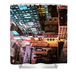 New York City - Night Shower Curtain by Vivienne Gucwa