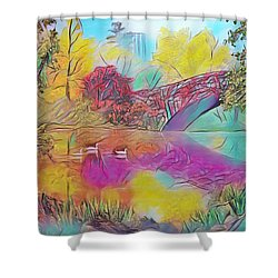 New York In Fall Shower Curtain