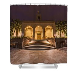 Shower Curtain featuring the photograph Newport Beach Temple by Dustin  LeFevre