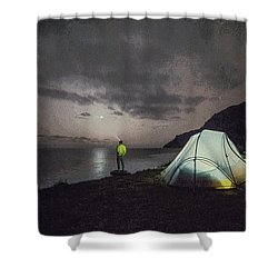 Night Gazer Shower Curtain