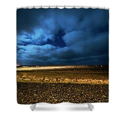 Shower Curtain featuring the photograph Icelandic Night  by Dubi Roman