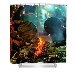 Night Satay II Shower Curtain