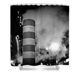 Shower Curtain featuring the photograph Night Steam Nyc by Dave Beckerman