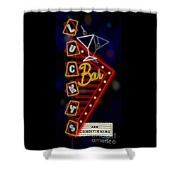 Nightclub Sign Luckys Bar Shower Curtain