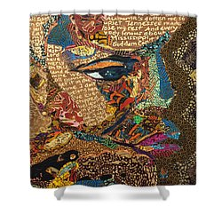Nina Simone Fragmented- Mississippi Goddamn Shower Curtain
