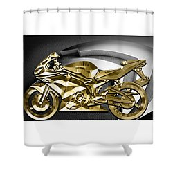 Ninja Motorcycle Collection Shower Curtain by Marvin Blaine