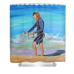 Shower Curtain featuring the painting Noah by Patricia Piffath