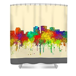 Norfolk Virginia Skyline Shower Curtain