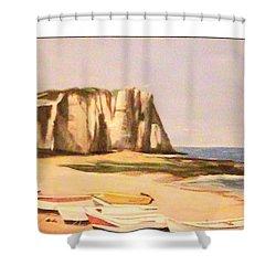 Normandy Beach Shower Curtain