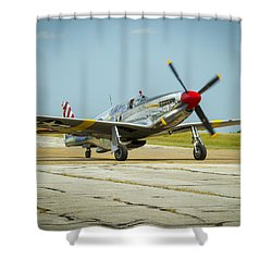 North American Tp-51c Mustang Shower Curtain