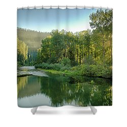 North Fork Sun Shower Curtain