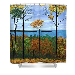 North Orchard View Shower Curtain