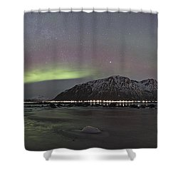 Northern Lights Panoramic Shower Curtain