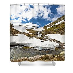 Norway Mountain Landscape Shower Curtain